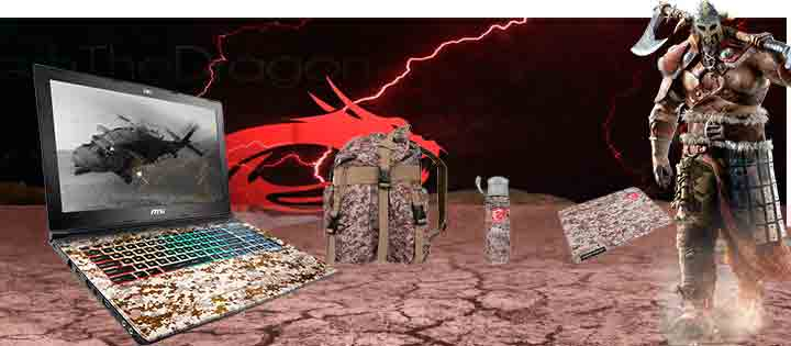 Intel core I7 MSI Apache Pro GE62-VR Camo Squad