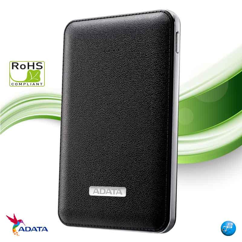 Power Bank Adata PV120   2 puertos USB   Capacidad 5100mAz