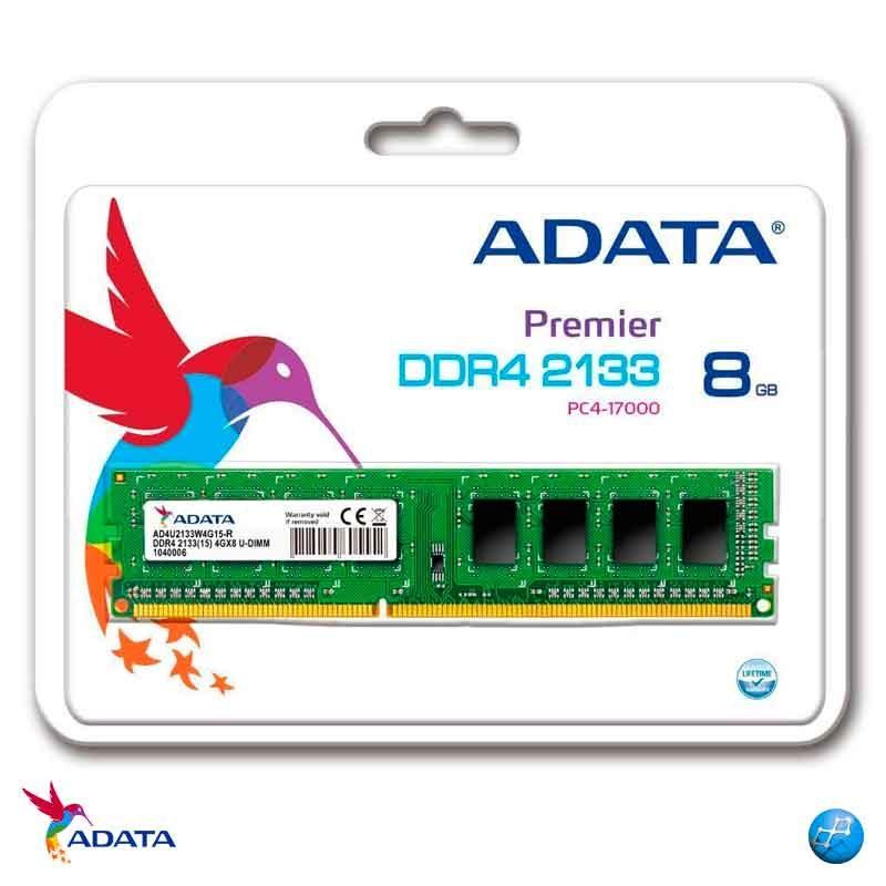 ADATA 8GB DDR4 PC   Memoria Ram 1X8 AD4U2133W8G15-S