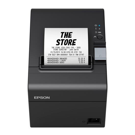 Epson Tm-t20iiI impresora de tickets para recibos/térmica Puerto Usb + Serial Negra