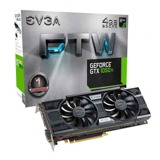 Geforce GTX 1050   EVGA FTW Gaming 4GB GDDR5 ACX 3.0 TARJETA GRAFICA